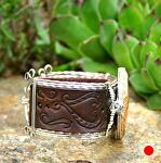 #51511 Fossilized Coral & Hearts  side view by Deborah & Russell Shamah  ~  x