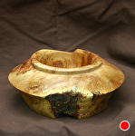 "35411~ Oak Burl with Turquoise Inlay by Deborah & Russell Shamah  ~ 3"" x 6.5"""