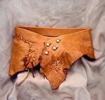 #102211 Elk Wrap by Deborah & Russell Shamah Elkhide Leather ~  x