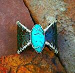 "#54211 Mountain Fern & Fox Turquoise by Deborah & Russell Shamah  ~ 2"" x"