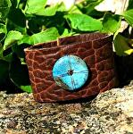 """#54511 Bison with Nacozari Turquoise by Deborah & Russell Shamah  ~ 1 1/2"""" x 7"""""""