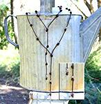 #71507 Knotty Lariat with Sterling Silver by Deborah & Russell Shamah  ~  x