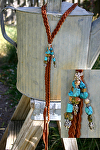 #71610 Braided Deer Leather Lariat by Deborah & Russell Shamah  ~  x