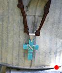72310~ Howlite & Sterling Cross by Deborah & Russell Shamah  ~  x