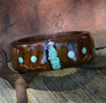 #40512 Walnut with Turquoise by Deborah & Russell Shamah  ~  x