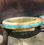 #41012 Maple with Turquoise Inlay by Deborah & Russell Shamah  ~  x