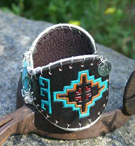 #50112 Indian Blanket Butterfly Bracelet side detail by Deborah & Russell Shamah  ~  x