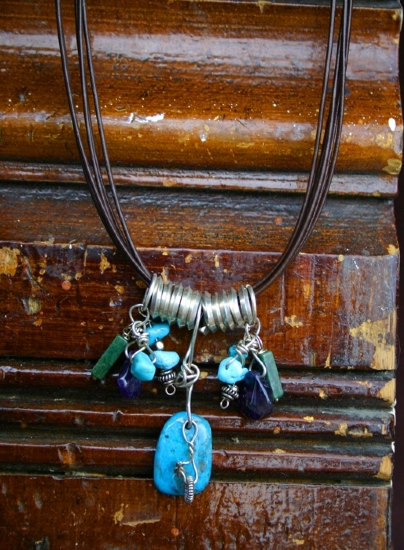 "70609 ~ by Deborah & Russell Shamah Turquoise ~ 7"" x"
