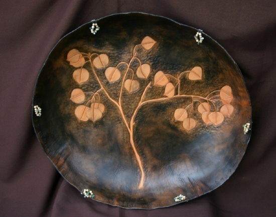 "10305 ~ Simply Aspen by Deborah & Russell Shamah Sculpted Leather ~ Approximately 21"" x 21"""