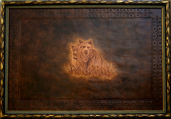 "90206 ~ Lookout by Deborah & Russell Shamah Pyrography ~ 26.5"" x 38.5"""