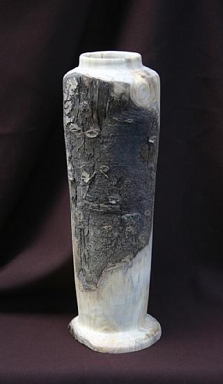 """#31210  Aspen Bark Inclusion by Deborah & Russell Shamah Wood ~ 10"""" x"""