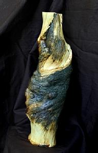 "#31710  Pine Bough Vase by Deborah & Russell Shamah Wood ~ 14 1/2"" x 5"""
