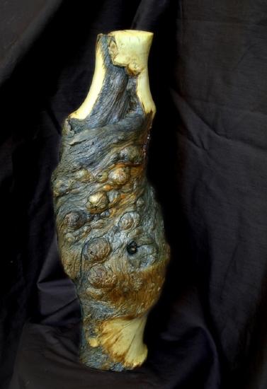#31710  Pine Bough Vase by Deborah & Russell Shamah Wood ~  x