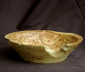 "30611~ Maple Burl Cap by Deborah & Russell Shamah  ~ 2.5"" x 8.25"""