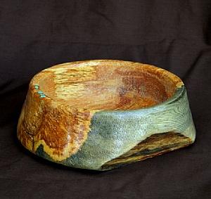 32311~ Beetle Pine Burl by Deborah & Russell Shamah Wood ~ 2.25 x 7.75