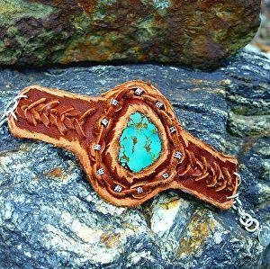 #51311 Deerhide Bracelet by Deborah & Russell Shamah  ~  x
