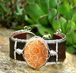 #51511 Fossilized Coral & Hearts by Deborah & Russell Shamah  ~  x