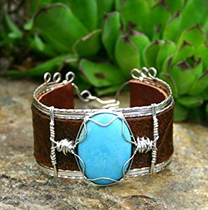 #51611 Nacozari Turquoise & Western Lily's by Deborah & Russell Shamah  ~  x