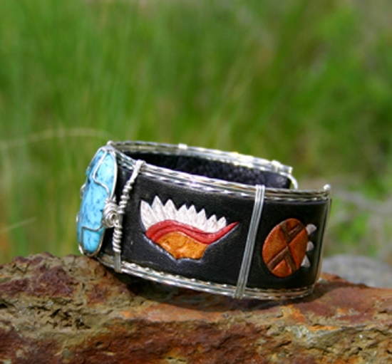 #51911 Nacozari & Native American  side view by Deborah & Russell Shamah  ~  x