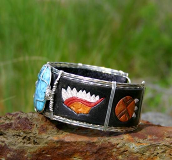 #51911 Nacozari & Native American  side view by Deborah & Russell Shamah  ~  x