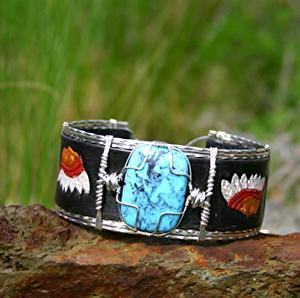 #51911 Nacozari Turquoise & Native American by Deborah & Russell Shamah  ~  x