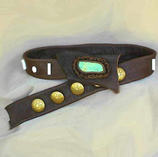 #101211 Elk Leather Belt by Deborah & Russell Shamah  ~  x