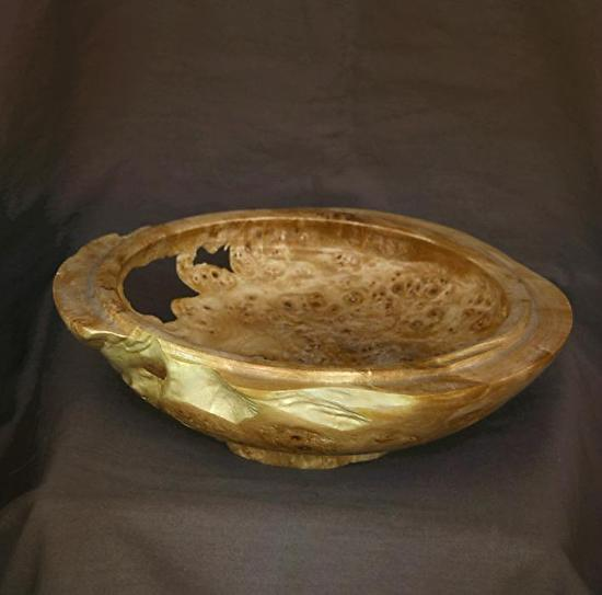 "#33710 Maple Burl by Deborah & Russell Shamah  ~ 2"" x 7.5"""