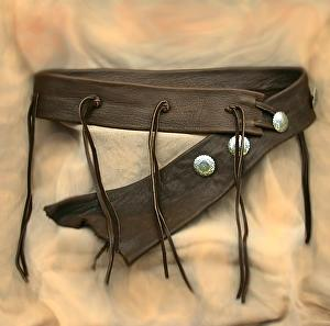 #102111 Elk Tassel Belt by Deborah & Russell Shamah Elkhide Leather ~  x