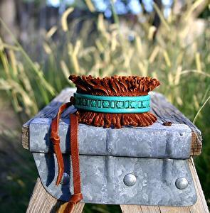 "#50211 Rendezvous West Fring Bracelet by Deborah & Russell Shamah  ~ 1 1/2"" x Adjustable"