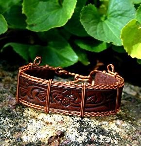 "#54709 Mountain Rose & Copper by Deborah & Russell Shamah  ~ 3/4"" x 7 1/2"""