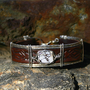 #53810 Wildhorse with Carved Feather Shield by Deborah & Russell Shamah  ~  x
