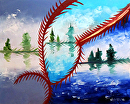 """Abstraction 23 - Abstract Landscape Oil Painting by Mark Webster Oil ~ 8"""" x 10"""""""