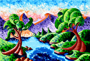 Mark Webster - Abstract Landscape Oil Painting 24x36 (1-3-13) by Mark Webster Oil ~ 24 x 36