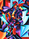 "Mark Adam Webster - Anamorphosis - Best of Show at the Art Deco Reimagined Exhibition by Mark Webster Oil ~ 40"" x 30"""