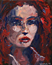 Untitled Portrait Acrylic Painting by Mark Webster Acrylic ~ 10 x 8