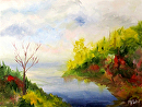 Color Study Landscape Oil Painting by Mark Webster Oil ~ 6 x 8