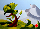 Mark Adam Webster - Abstract Geometric Landscape Oil Painting 4.1.14 by Mark Webster Oil ~ 9 x 12