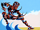 Mark Adam Webster - Dave C 0303 - Abstract Futurist Figurative Oil Painting by Mark Webster Oil ~ 30 x 40
