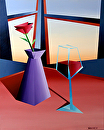 "Abstract Wine at Sunset #1 Acrylic Painting by Northern California Artist Mark Webster by Mark Webster Acrylic ~ 20"" x 16"""