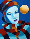 "Untitled Mask Painting 1/20 by Mark Webster Oil ~ 14"" x 11"""