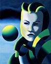 "Dark Matter Painting Series #1 by Mark Webster Oil ~ 10"" x 8"""