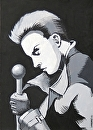 "Comic Book Noir Acrylic Painting 02/04/2010 by Mark Webster Acrylic ~ 7"" x 5"""