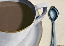 "Coffee Cup Oil Painting 02/19/2010 by Artist Mark Webster by Mark Webster Oil ~ 5"" x 7"""