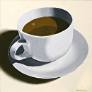 "Coffee Cup Oil Painting 02/22/2010 by Northern California Artist Mark Webster by Mark Webster Oil ~ 6"" x 6"""