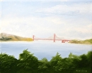 "The Golden Gate Bridge Oil Landscape Painting by Northern California Artist Mark Webster by Mark Webster Oil ~ 8"" x 10"""