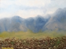 "Tuscan Mountain Vineyard 244 by Artist Mark Webster by Mark Webster Oil ~ 9"" x 12"""