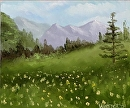 "Mountain Oil Painting Series #3 by Artist Mark Webster by Mark Webster Oil ~ 5"" x 6"""