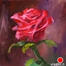 """By Any Other Name"" #2 Rose Oil Painting by Mark Webster Oil ~ 6"" x 6"""