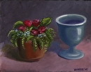 "Mark Webster - Flowers and Vase Still Life Oil Painting by Mark Webster Oil ~ 8"" x 10"""