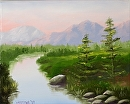 """Pine for the Mountain River Oil Painting by Mark Webster Oil ~ 8"""" x 10"""""""